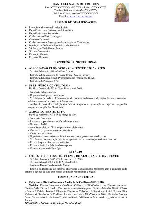 Modelo Curriculum Vitae Informatica Modelo De Curr 237 Culo Atualizado Dicas E Dica