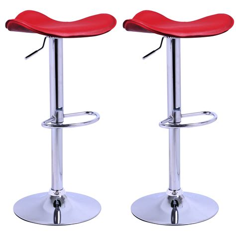 bar stools set of 2 1 faux leather adjust breakfast chair