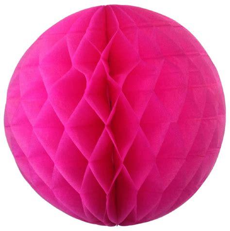 Tissue Paper Balls - tissue paper honeycomb 8inch shocking pink