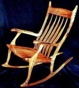 made custom koa rocking chair by william kappel