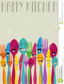 colored flatware happy color cutlery royalty free stock images image