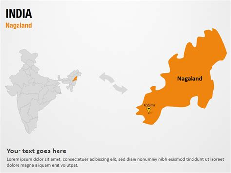 india map ppt template nagaland india powerpoint map slides nagaland india
