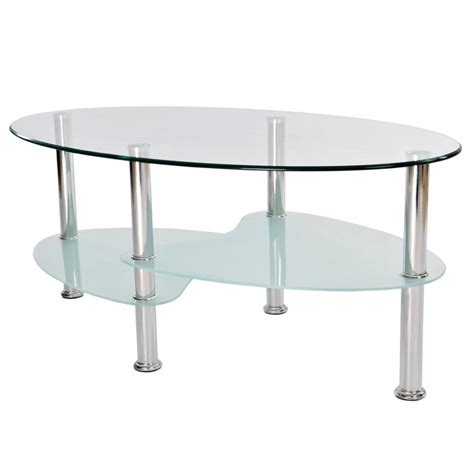 stainless steel modern furniture coffee tables cara elise glass top stainless steel