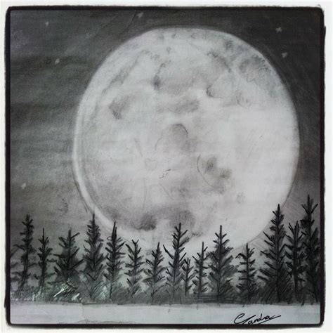 Sketches Moon by Moon Sketch With Pencils