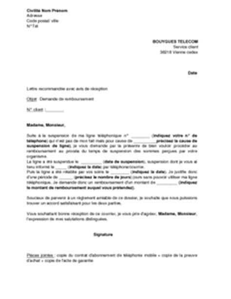 Demande De Remboursement Mutuelle Lettre exemple gratuit de lettre demande remboursement prorata