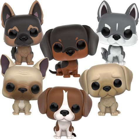 dogs as pets and dogs pop vinyl figure bundle set of 6 pets