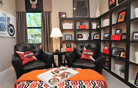 harley davidson room eclectic home office orlando by studio kw photography