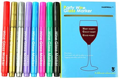 8 Ways A House Guest Can Be Annoying by Gainwell Wine Glass Markers Pack Of 8 Food Safe Non
