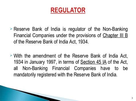 Companies Act Section 45 by Ppt On Nbfcs Cic In India