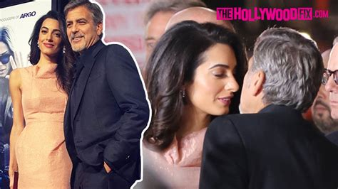 George Clooney Kisses For The Right Price by George Amal Clooney Arriving To Our Brand Is