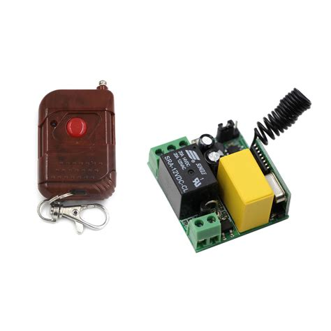 wireless light switch and receiver ac 220v 1ch 10a relay wireless remote control switch