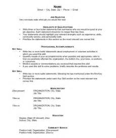 sles of functional resumes sle resumes