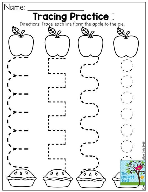 worksheets for preschool tracing practice and tons of other pages for back to