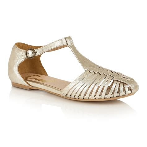 gold strappy flat sandals buy ravel springdale flat sandals in pale