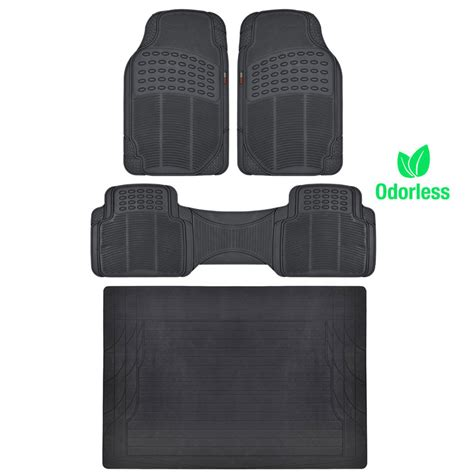 rubber sting mat premium ridged rubber floor mats cargo trunk liner black