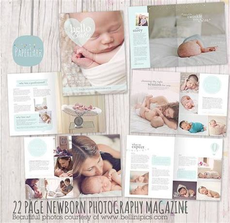 newborn magazine template 22 page newborn photography magazine template pg012
