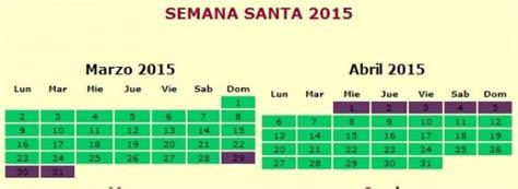 Calendario 2015 Semana Santa Dias Feriados 2015 Efem 233 Rides En Im 225 Genes
