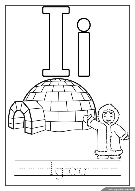 letter i coloring pages printable alphabet coloring pages letters a j