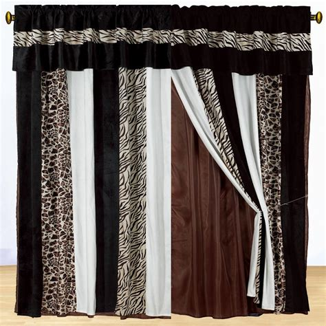 leopard print drapes new brown zebra animal print draps valance black curtains