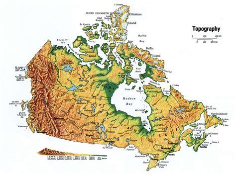 topographic map of mexico canada topographic