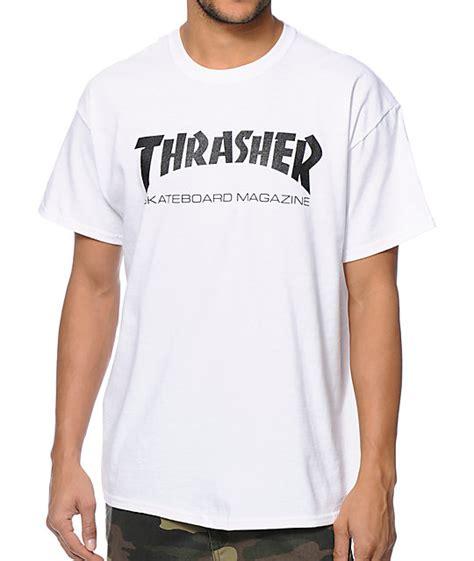 Tshirt Skateboards Thrasher White Thrasher Skate Mag White T Shirt Zumiez