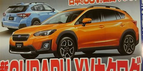 subaru japanese 2017 subaru leaked in japanese media photos 1 of 4