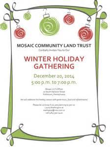 mosaic community land trust winter holiday gathering