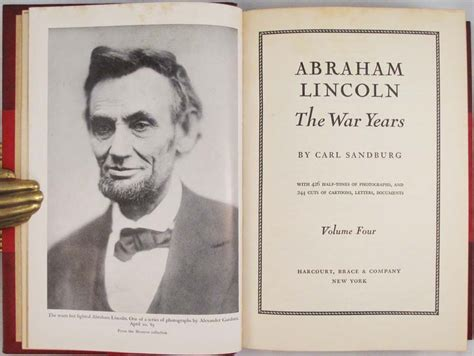 carl sandburg biography abraham lincoln abraham lincoln the prairie years and the war years