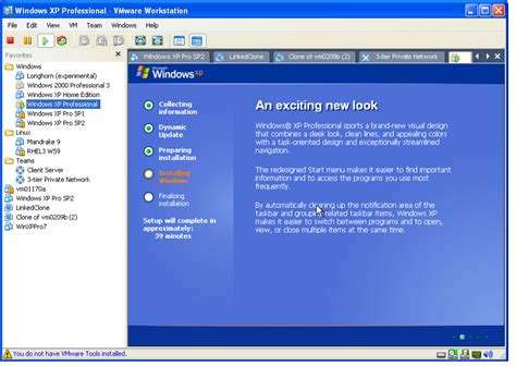 setup xp virtual host exle installing windows xp as a guest operating system
