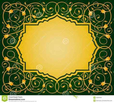 eps format border design free download islamic floral art border stock vector illustration of