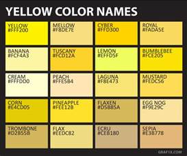names for the color yellow color names graf1x