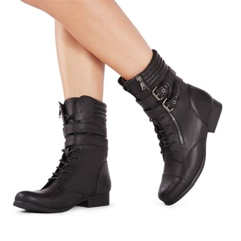 justfab boots 50 justfab shoes justfab combat boots from s
