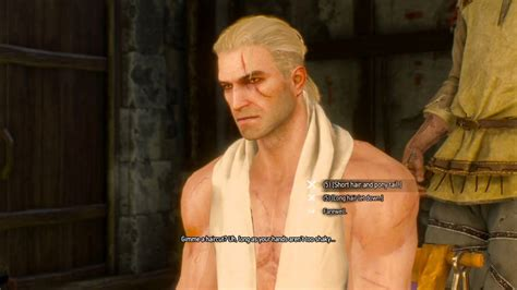 witcher 2 hairstyles the witcher 3 wild hunt geralt with his hair down youtube