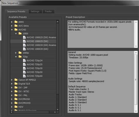 adobe premiere pro hd export settings choosing premiere pro project settings for hd video