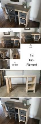 Home Office Desk Build Easy Diy Home Office Desk