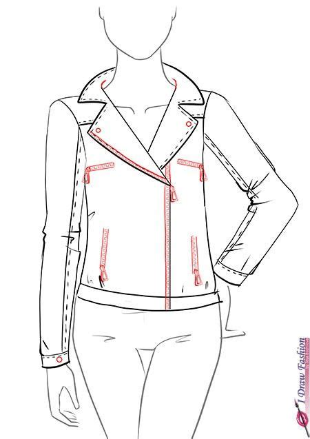 jacket design sketch how to draw a leather jacket step by step tutorial 9