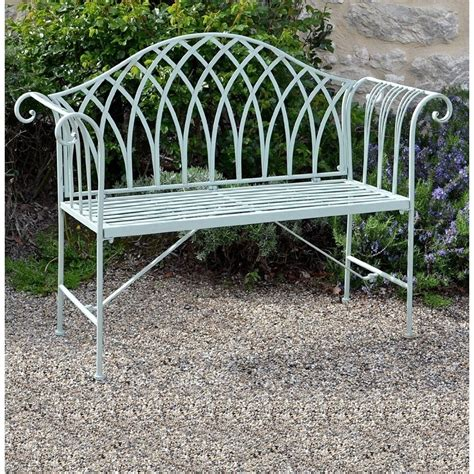 steel garden bench fairford scrolled metal garden bench the garden factory