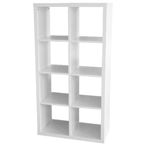 Etagere 8 Cases Blanches by 8 Cube Bookcase Rona