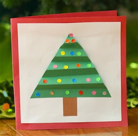 christmas tree cards for kids to make things to make and do crafts and activities for kids