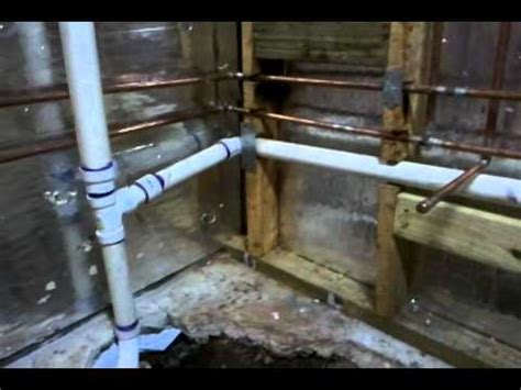 how to add plumbing for a new bathroom new basement bathroom plumbing youtube
