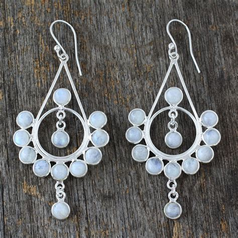 Handmade Silver Jewelry Uk - unicef uk market moonstone silver earrings handmade