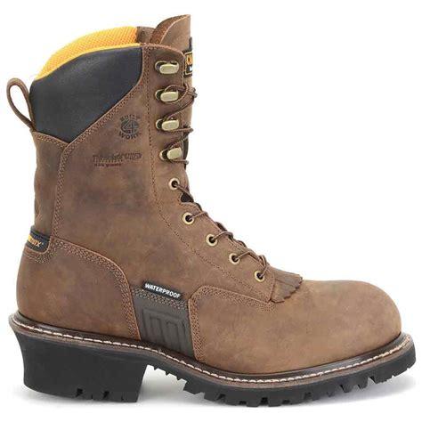 insulated steel toe boots carolina max wp insulated steel toe logger boot ca6580