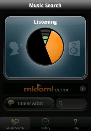 midomi for android identifies hummed or sung intomobile