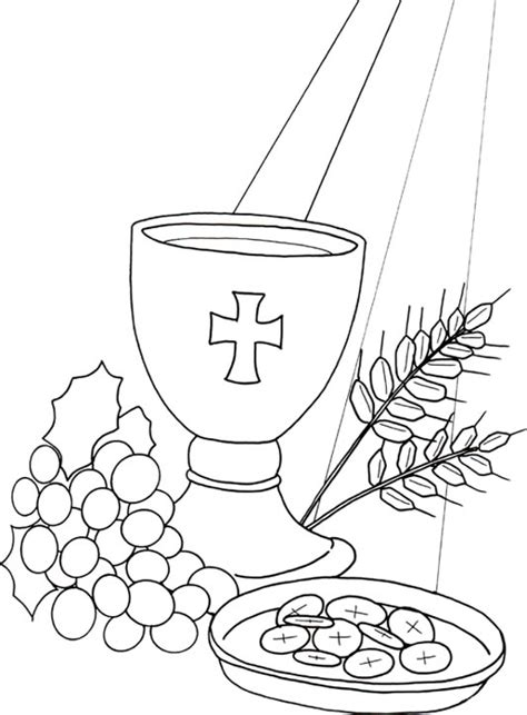 coloring page eucharist eucharist holy communion