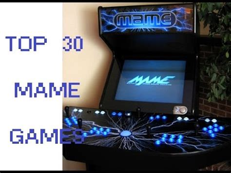 top  mame games  classic arcade games  pc