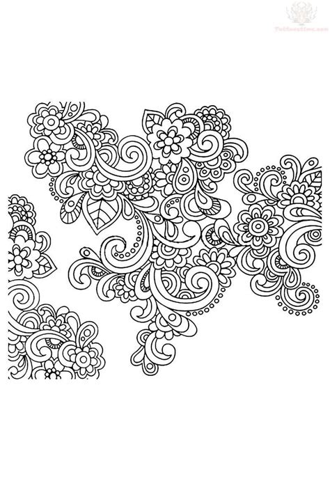 paisley heart tattoo designs flowers paisley design