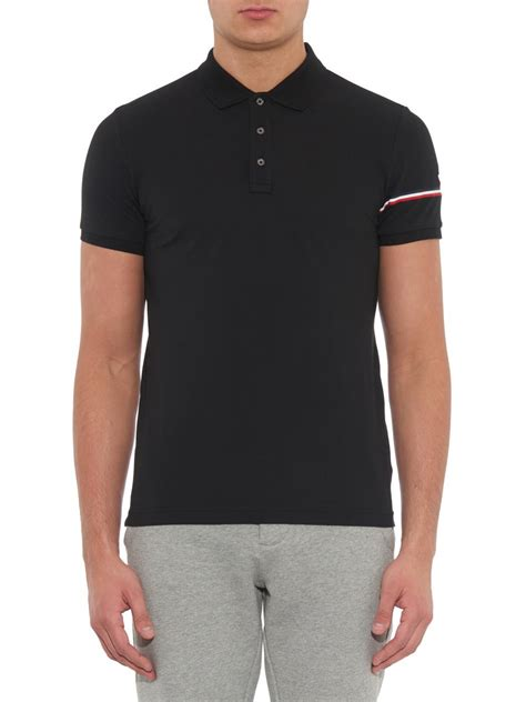 Stripe Sleeve Polo lyst moncler sleeve stripe cotton piqu 233 polo shirt in