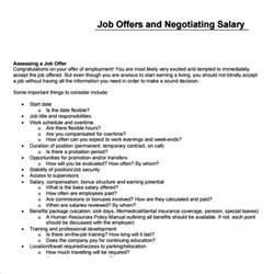 Offer Letter Salary Low Sle Salary Template 5 Free Documents In Pdf