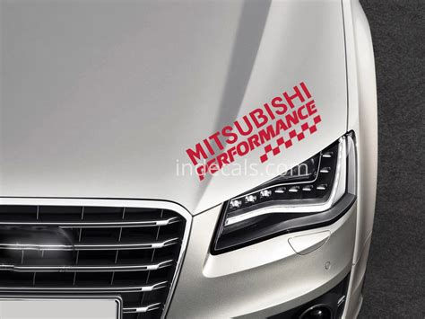 mitsubishi sticker 6 x mitsubishi stickers for door sills red indecals com
