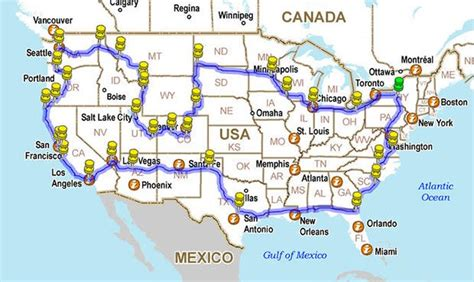 us best road trip map 12 225 mile road trip around america in a 5 minute time lapse